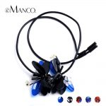 eManco 5 Color Stylish Elegant Flower Long Necklaces & Pendants Women Blue Crystal Rope Adjustable <b>Jewelry</b> <b>Accessories</b> 2018