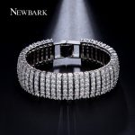 NEWBARK Luxury Sparklin CZ Bracelets For Women Silver Color Bracelet & Bangles Femme Bridal <b>Wedding</b> <b>Jewelry</b> Pulseira