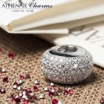 ATHENAIE Genuine 925 Sterling <b>Silver</b> Charms Bead Pave Clear CZ Fit All European Charm <b>Bracelet</b> Authentic Jewelry Gift