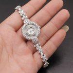 Wristwatch <b>Jewelry</b> For Women 925 <b>Sterling</b> <b>Silver</b> WhiteTOPAZ New Links Quartz Watch Bracelet 8.75 Inches W05 Free Shipping