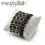 Mestylish Square Bracelet Micro Pave Stingray Leather Square Beads Bracelet <b>HandMade</b> Braided Men Women Bracelet <b>Jewelry</b>