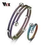 Vnox Bracelet and Ring <b>Jewelry</b> Sets for Women Femme Stainless Steel Wire <b>Jewelry</b> <b>Accessories</b> Size Adjustable