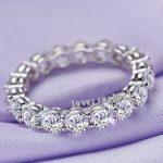Brand Women Fashion <b>Jewelry</b> Full Round 4mm AAAAA zircon cz S925 silver <b>Jewelry</b> Engagement <b>Wedding</b> Band Ring for women