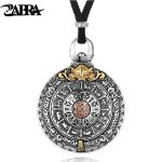 ZABRA Religion Authentic 925 <b>Sterling</b> <b>Silver</b> Round Necklace Pendant Men Chinese Zodiac Signs Vintage Pendants <b>Jewelry</b> For Male