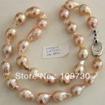 <b>Jewelry</b> 001970 17MM BEAUTIFUL JAPANESE KASUMI PEARL NECKLACE 46CM 5.4