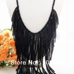 Beautiful! 23″ Black Crystal <b>Necklace</b>