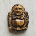 2017 New fahsion top quality carved natural tiger eye Stone buddha pendant for necklace charm <b>jewelry</b> <b>making</b> free shipping
