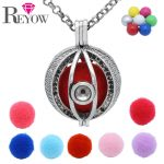 Pregnant Womens Aromatherapy <b>Jewelry</b> <b>Antique</b> Silver Hollow Heart Locket Cage Chime Ball Pendant Essential Oil Diffuser Necklace