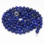 Natural Lapis Lazuli stone beads 6mm charming round beads diy Special Necklace <b>making</b> long chain <b>Jewelry</b> 36″ MY4550