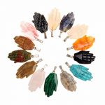 Druzy 4pcs/lot Natural Stone hasma Hand Pendants Assorted Stone Mixed Color New Fashion <b>Jewelry</b> Necklaces <b>Making</b> Free Shipping