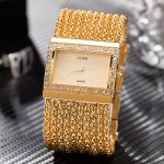 Fashion Chain <b>Bracelet</b> Watches Gold/<b>Silver</b> Plated IPG Band Diamond Watch dial Quartz Watches Fashion Women Luxury Dress Watches