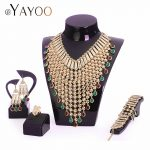 AYAYOO Nigerian <b>Wedding</b> African Beads <b>Jewelry</b> Set Imitation Crystal Women <b>Jewelry</b> Sets Dubai Gold Luxury Bridal <b>Jewelry</b> Set