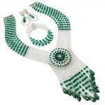 2018 New Arrivals Nigerian Wedding Necklace Earring For Women <b>Handmade</b> African Beads <b>Jewelry</b> Set Party Christmas Gif 6C-SDLS-012