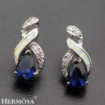 Modern 8 Design Charms <b>Wedding</b> <b>Jewelry</b> 925 Sterling Silver Stud Earrings Hermosa Fashion Women Girls Gift