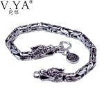 Wholesale Genuine 100% Real Pure 925 Sterling <b>Silver</b> thick Men <b>bracelet</b> . Dragon <b>Bracelet</b> . free shipping men fine jewelry HYB03