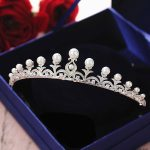 Pearl Zircon Tiara Headband CZ Crown <b>Jewelry</b> Bride Headpiece <b>Wedding</b> Hair Accessories Headbands Bijoux Cheveux WIGO1270