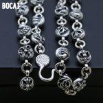 925 <b>sterling</b> <b>silver</b> 10mm men's necklace long sweater chain personality handmade <b>jewelry</b> Thai <b>silver</b> vintage old
