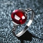 JIASHUNTAI 4 color <b>wedding</b> rings Vintage red silver 925 rings for women Retro Natural stone silver Ring set female <b>jewelry</b> gifts