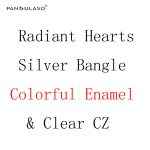 Pandulaso Radiant Hearts <b>Silver</b> Bangles for Women Colorful Enamel & Clear CZ Crystal Bracelets & Bangles <b>Silver</b> 925 <b>Jewelry</b>