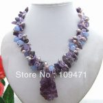 Amazing! Pearl&Purple Crystal <b>Necklace</b>