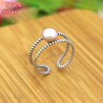 100% 925 sterling-silver-<b>jewelry</b> Adjustable Ring Blank Inner 6-8MM Setting Round Stone <b>Antique</b> Silver Classical platin