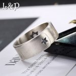 L&P Wholesale 100% Sterling Silver Ring Silver <b>Jewelry</b> Two Star Simple <b>Handmade</b> Ring For Women Party Engagement Hot Gift lady