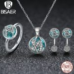 925 Sterling Silver High Quality Transparent Glass <b>Jewelry</b> Set Lovely Leaves <b>Necklace</b>/Earrings/Ring Women Fashion <b>Jewelry</b> Sets