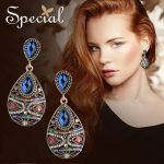 Special Fashion Mysterious Halloween Drop Earrings 925 Sterling <b>Silver</b> Ear Pins Waterdrop Crystal <b>Jewelry</b> Gifts for Women S1754E