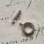 30Sets/Pack 17MM&22MM Vintage <b>Antique</b> Silver Alloy <b>Jewelry</b> Clasps Hooks Findings