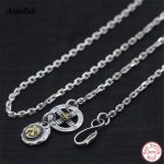 Wholesale 100% Real Pure 925 Sterling <b>Silver</b> <b>Necklace</b> Brand Thick Chain Thai <b>Silver</b> Long Punk Men <b>Necklace</b> Brand Ataullah NWP405