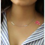 Sideway Custom Two Nameplate <b>Necklace</b> 2 name Pendants BFF Jewelry Mom Kid Name Bar <b>Necklace</b> Christmas Gift