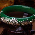 S925 <b>sterling</b> <b>silver</b> <b>jewelry</b> round full President Lotus chalcedony bracelet