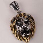 Lion necklace for men women 316L stainless steel pendant W/ chain GN06 <b>antique</b> gold silver biker <b>jewelry</b> wholesale dropship
