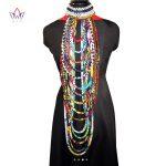 BRW 2018 African Ankara Necklace Wax Print Fabric Colorful Necklace Shawl African Ankara <b>Handmade</b> Necklace Tribal <b>Jewelry</b> WYB084