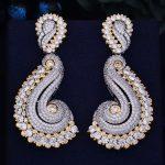 GODKI New Arrival 65mm Luxury Trendy Geometry Cubic Zirconia Naija <b>Wedding</b> Party Earring Fashion <b>Jewelry</b> for Women
