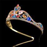 2018 Newest Bride tiara crown <b>handmade</b> Crystal headband Luxury Women Wedding Crown Princess Head <b>Jewelry</b> hair accessories