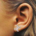 Personalized Monogram Initials Earings Fashion <b>Jewelry</b> Custom Signature Name Earrings For Women Friendship Gift kolczyki damskie