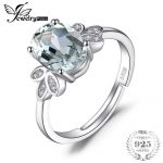 JewelryPalace Classic 1.8ct Natural Green Amethyst White Rock Quartz Solitaire Ring Solid 925 Sterling <b>Silver</b> Fashion <b>Jewelry</b>