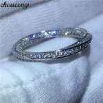 choucong New <b>Wedding</b> Band Ring for women Full Pave setting Diamonique cz 925 Sterling silver Engagement Rings Bridal <b>jewelry</b>
