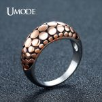 UMODE Vintage Round Serpentine Dome Rings for Women Rose Gold Color <b>Antique</b> Cocktail Rings Party <b>Jewelry</b> Anillos Mujer AUR0389