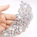 Bella Fashion Flower Rose Rhinestone Brooch Pins For Bridal Austrian Crystal <b>Silver</b> Tone Brooch For Wedding Women Party <b>Jewelry</b>