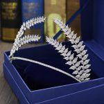 Paved CZ Crown Full Cubic Zircon Tiara Tiaras Diadema <b>Wedding</b> Hair Accessories Bride Hair <b>Jewelry</b> Bijoux Cheveux Coroa WIGO1075