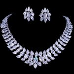 Emmaya Luxury Crystal Wedding Bridal Jewelry Sets <b>Silver</b> Color Rhinestone Wedding Jewelry <b>Necklace</b> Sets for Women