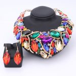 African Beads <b>Jewelry</b> Sets For Women <b>Accessories</b> Wedding Bridal Crystal Pendant Statement Necklace Earring Resin Gem <b>Jewelry</b> Set