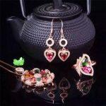 Natural tourmaline 925 <b>silver</b> jewelry set natural gemstone <b>earrings</b> pendants + + hnpwhimrpd