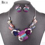 MS20676 <b>Fashion</b> <b>Jewelry</b> Sets Silver Plated Purple/Leopard/Blue/Gray Colors Unique Design Party Gifts High Quality Free Shipping