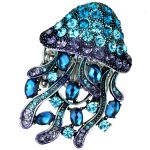 Jellyfish stretch ring <b>antique</b> gold silver color W crystal silk scarf <b>jewelry</b> gifts for for women girls wholesale dropshipping