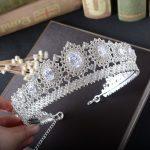 SHOSIXUAN Gorgeous Vintage Big <b>Silver</b> Wedding Diamante Pageant Crowns Tiaras Crystal Bridal Crown Bride Hair <b>Jewelry</b> Headpiece