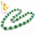 NYMPH Natural Pearl <b>Necklace</b> 8-9mm Jewelry Casual Style Choker <b>Necklace</b> free shipping [N5012]