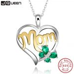 Mom <b>Necklace</b> 925 Sterling <b>Silver</b> Emerald Butterfly <b>Necklace</b> Mothers Day Gift For Women Family Jewelry with Gift box